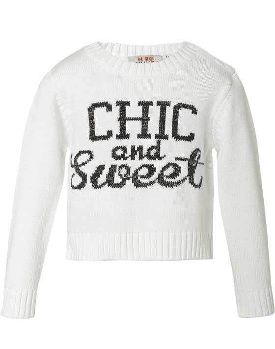 Πουλόβερ με τύπωμα Chic & Sweet 15-116300-6 - Εκρού - 6081-016/12/158/289