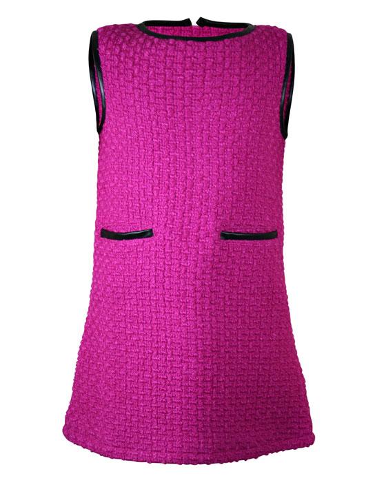 Φόρεμα αμάνικο ίσια γραμμή μονόχρωμο 16-115220-7 - ΒΙΟΛΕΤΙ - 4879-059/12/372/115