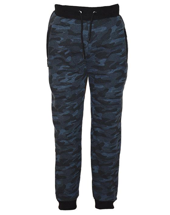 Παντελόνι παραλλαγής αχνούδιαστο φούτερ 12-118123-2 - Μπλε - 11600-057/12/10/104