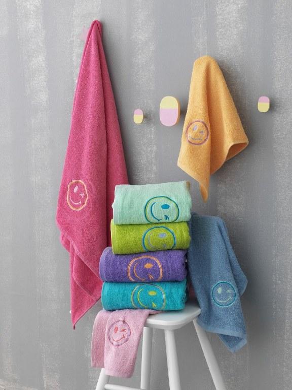 Σετ 2τμχ Πετσέτες Παιδικές Palamaiki Faces - Chamois - faces-towels/6/287/1