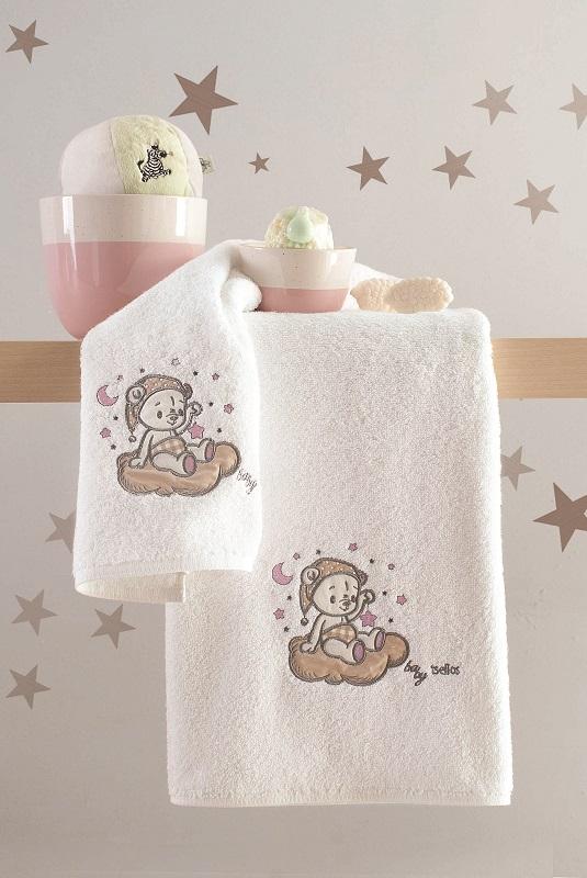 Σετ 2τμχ Πετσέτες Bebe Βαμβακερές Sweet Pink Makis Tselios - No Color - sweet-pink-towel/6/226/95
