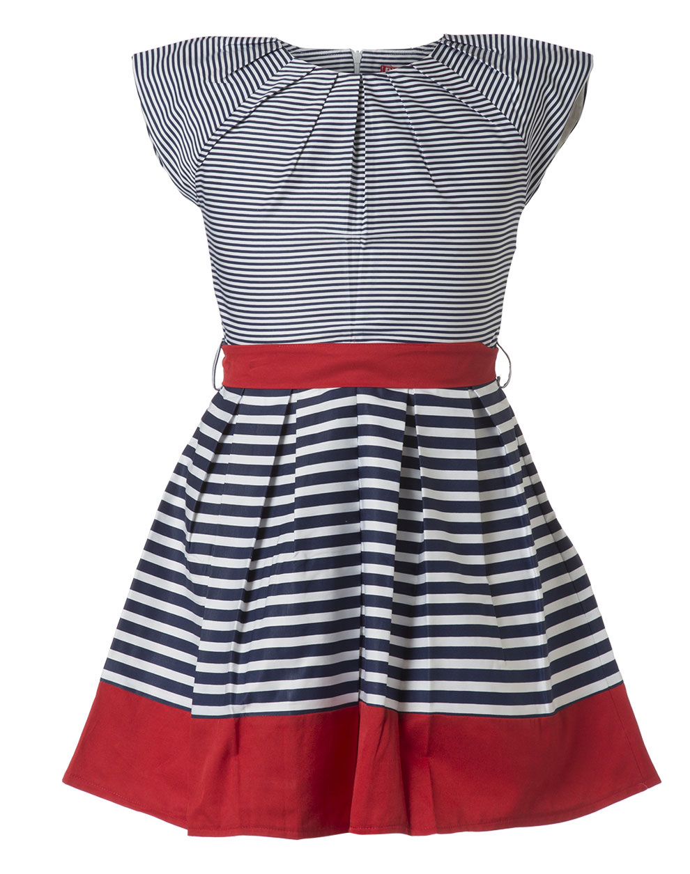 5c45264ef45 Φόρεμα ριγέ με κόκκινες λεπτομέρειες - σταθερό ύφασμα ποπλίνα 16-219225-7 -  ΡΙΓΕ - 14044-144/ 12/ 312/ 116