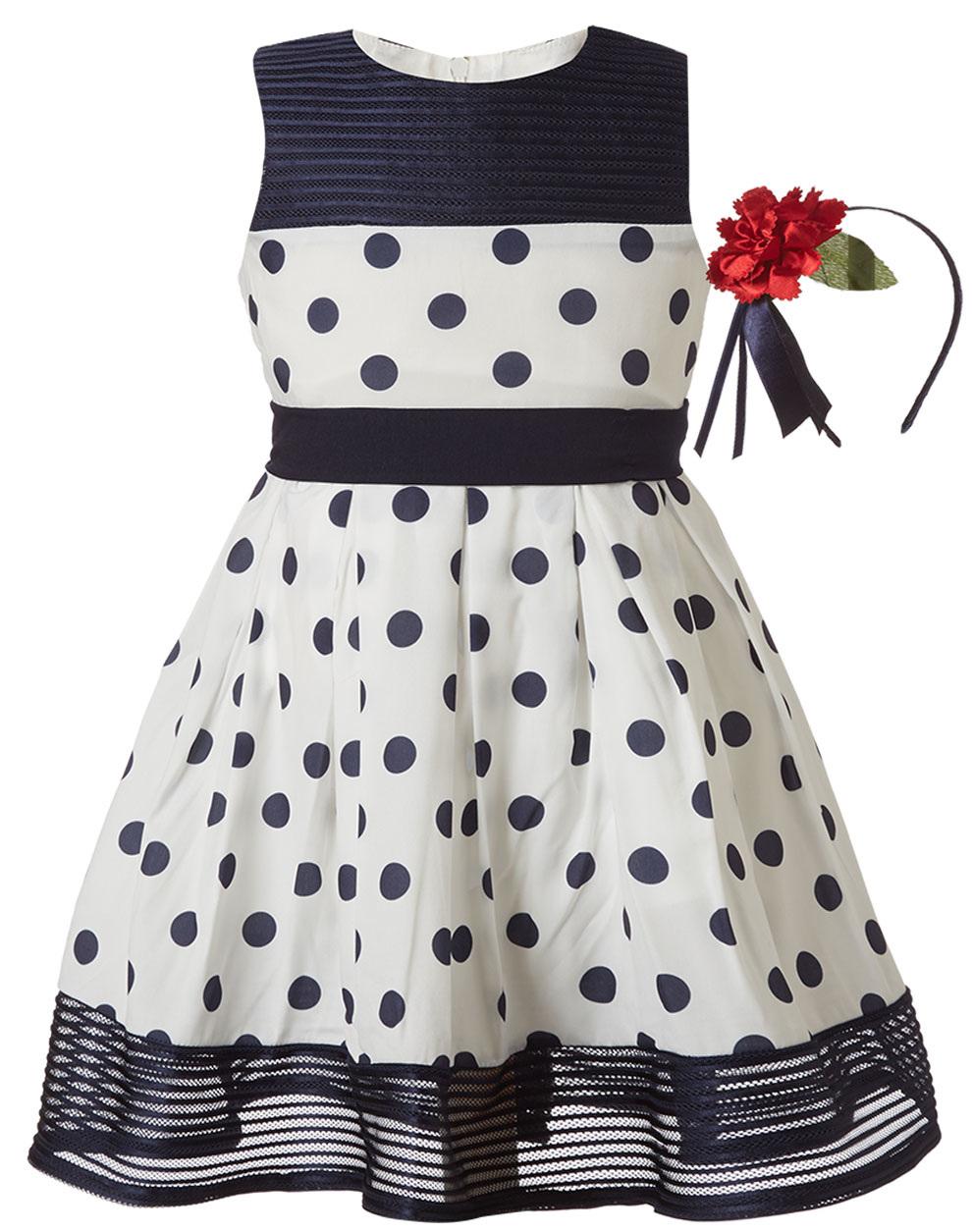 442bb9699d4 Pitsiriki Φόρεμα μουσελίνα πουά και στέκα μαλλιών 46-219274-7 - ΠΟΥΑ -  14023-