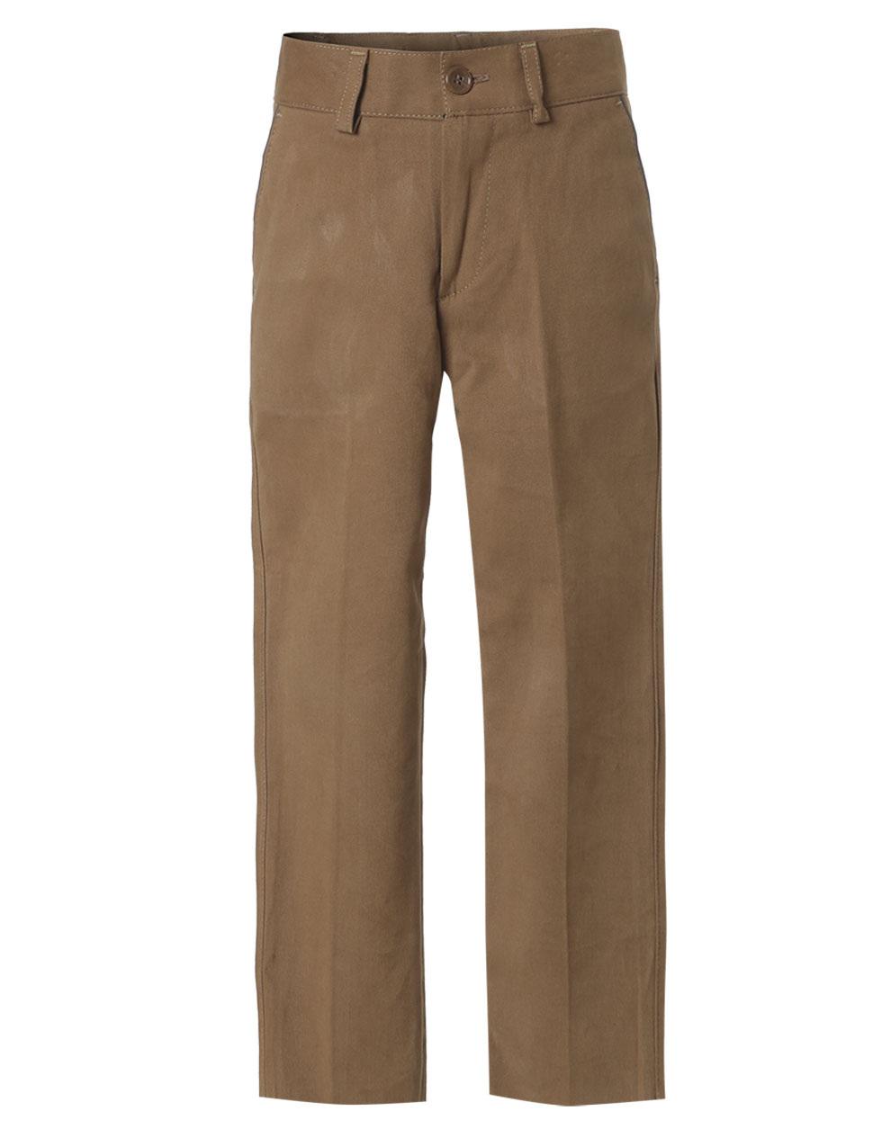 Ελαστικό παντελόνι chinos σε κλασική γραμμή 42-116191-2 - ΠΟΥΡΟ - 12210-40/12/324/109