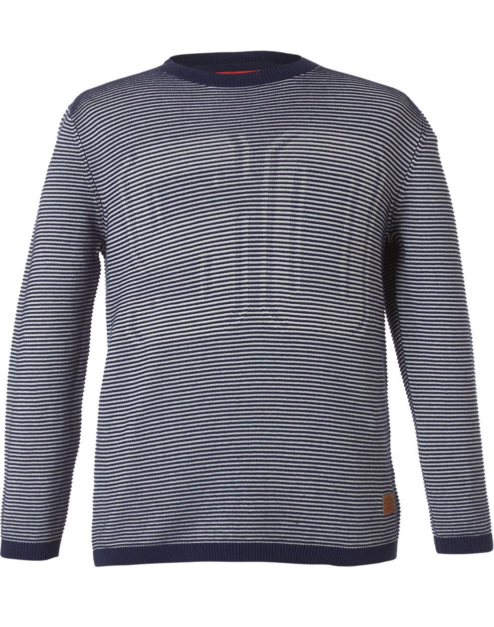 Ριγέ πλεκτή μπλούζα 13-119008-6 - ΜΑΡΕΝ - 16054-1/12/292/108