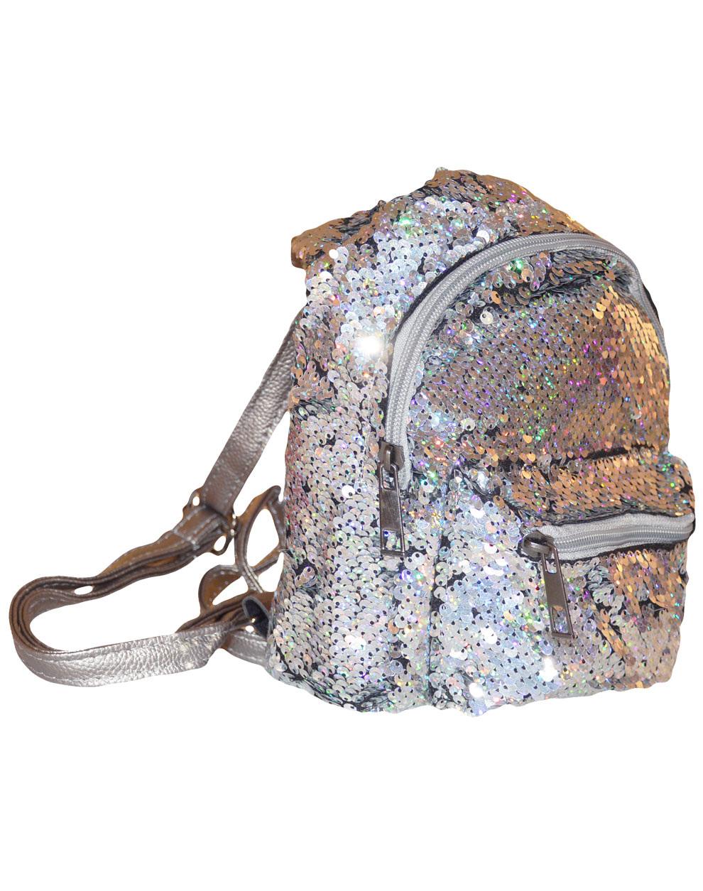Τσάντα με παγιέτες 39-100-101 - Ασημί - 16604-91/12/141/286