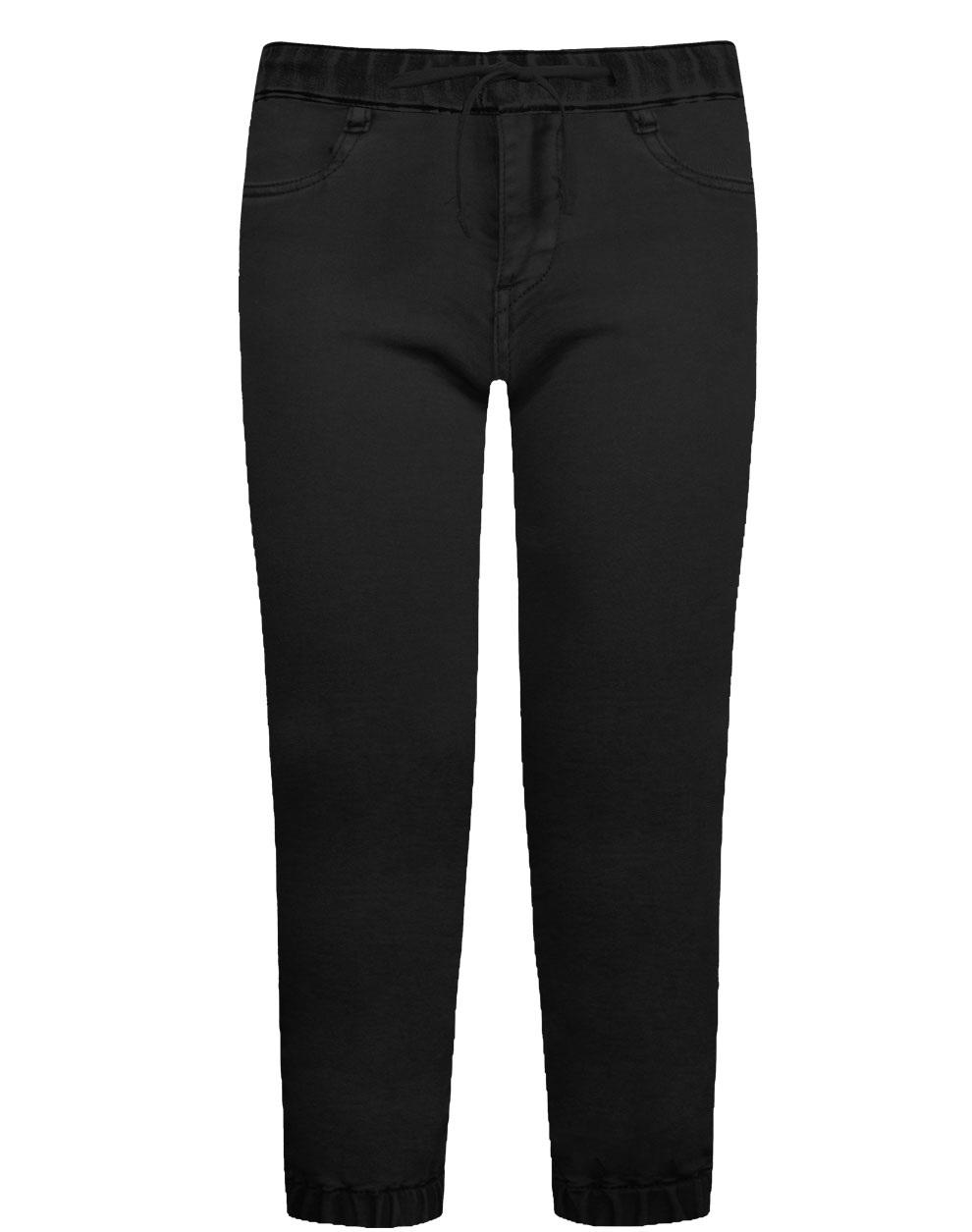 Παντελόνι με λάστιχο στη μέση και στα μπατζάκια σταθερό ύφασμα 12-120104-2 - Μαύρο - 18133-10/12/1/102