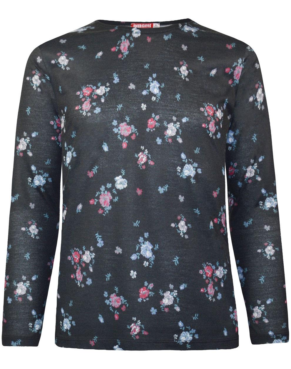 Μπλούζα με φλοράλ μοτίβο 16-120247-5 - Εμπριμέ - 18799-148/12/164/106