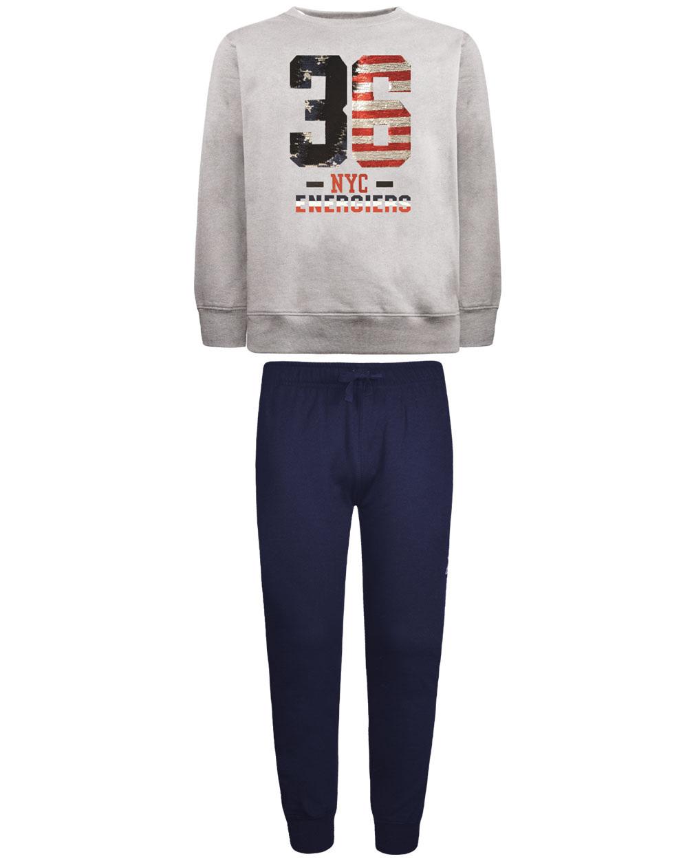 Φόρμα παντελόνι με τυπωμένη tape και μπλούζα με παγιέτες που αλλάζουν 13-120078-0 - ΜΑΡΕΝ - 17902-1/12/292/106
