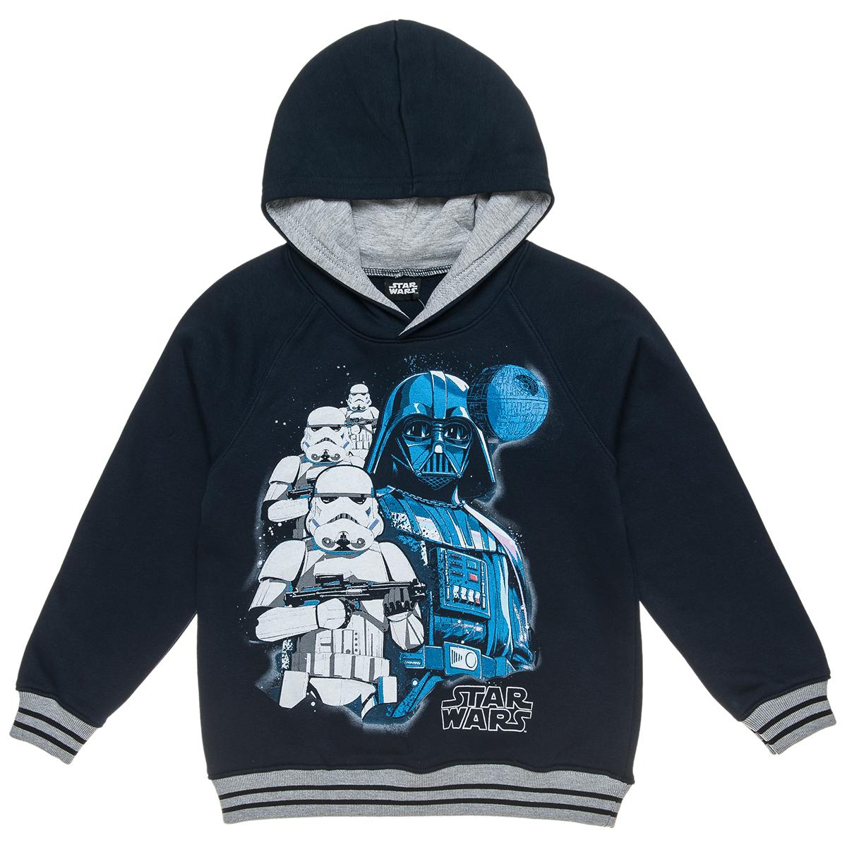 Μπλούζα φουτερ Star Wars με κουκούλα και τύπωμα (Αγόρι 6-14 ετών) 00121282 89f09cba96e