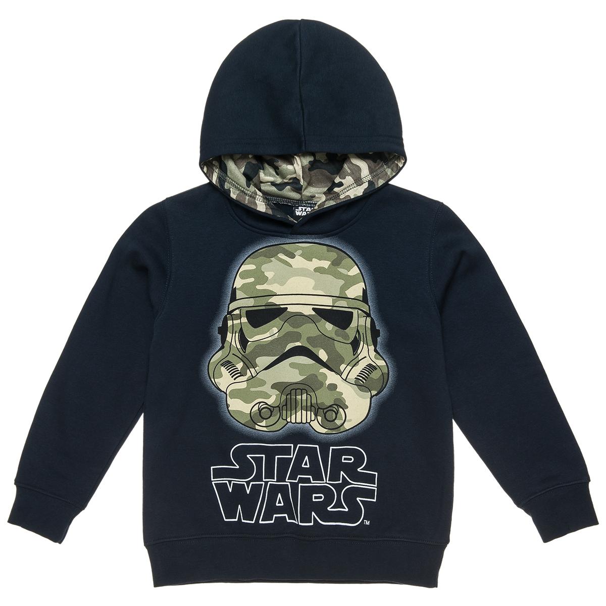 Μπλούζα Star Wars με κουκούλα και μιλιτερ τύπωμα (Αγόρι 4-16 ετών) 00121291 - Μπλε - 4373-0002/3/10/116