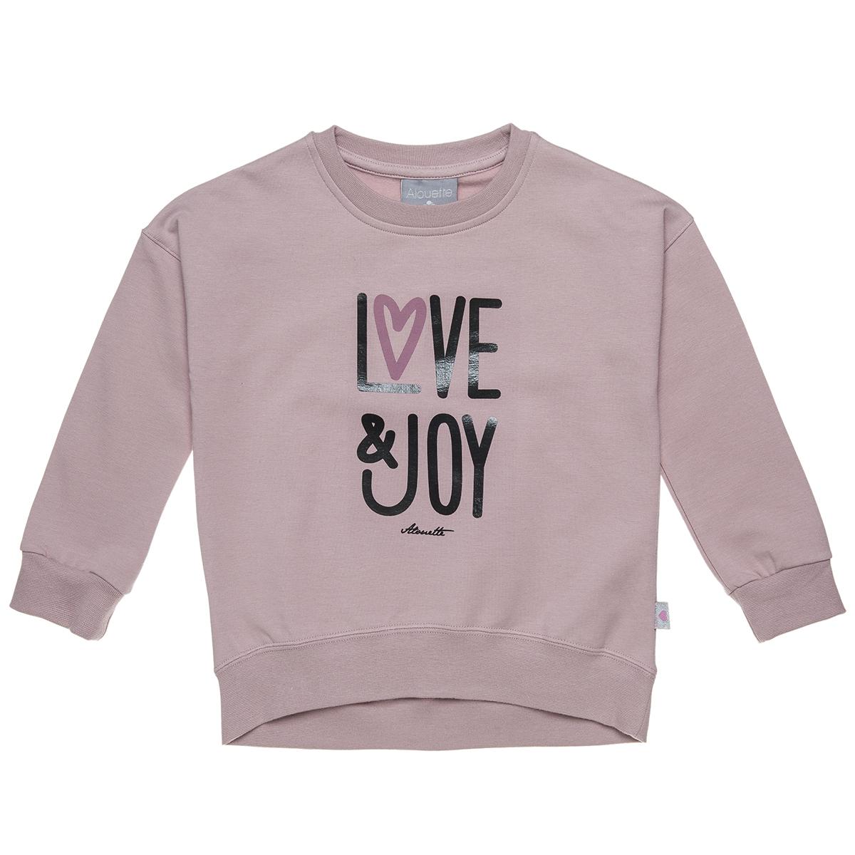 Μπλούζα με γυαλιστερό lettering τύπωμα (Κορίτσι 2-5 ετών) 00221266 - Ροζ - 4384-0175/3/12/102