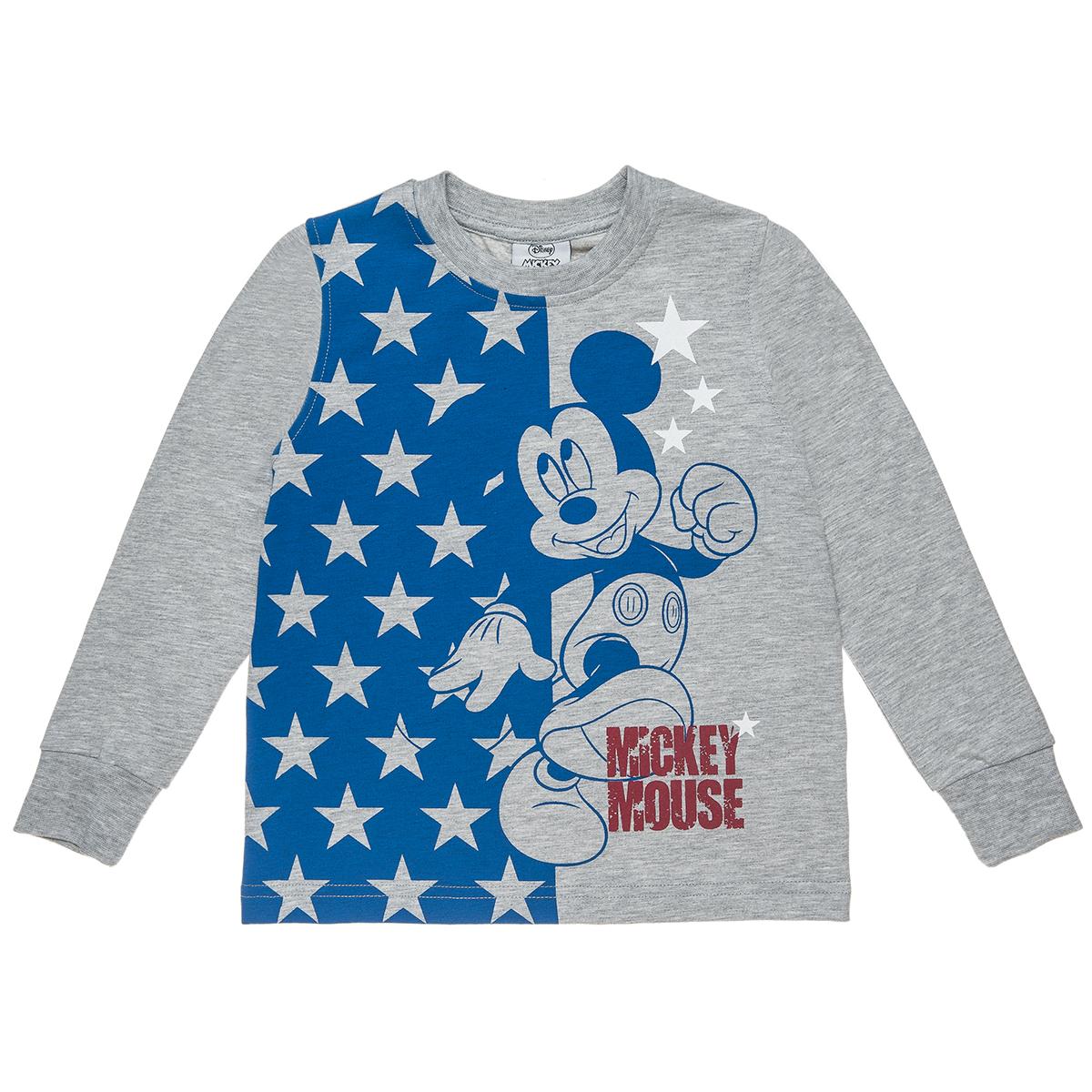 Μπλούζα Disney μελανζέ με τύπωμα Mickey Mouse (Αγόρι 2-8 ετών) 00320830 - ΓΚΡΙ ΜΕΛΑΝΖΕ - 3981-0208/3/234/103