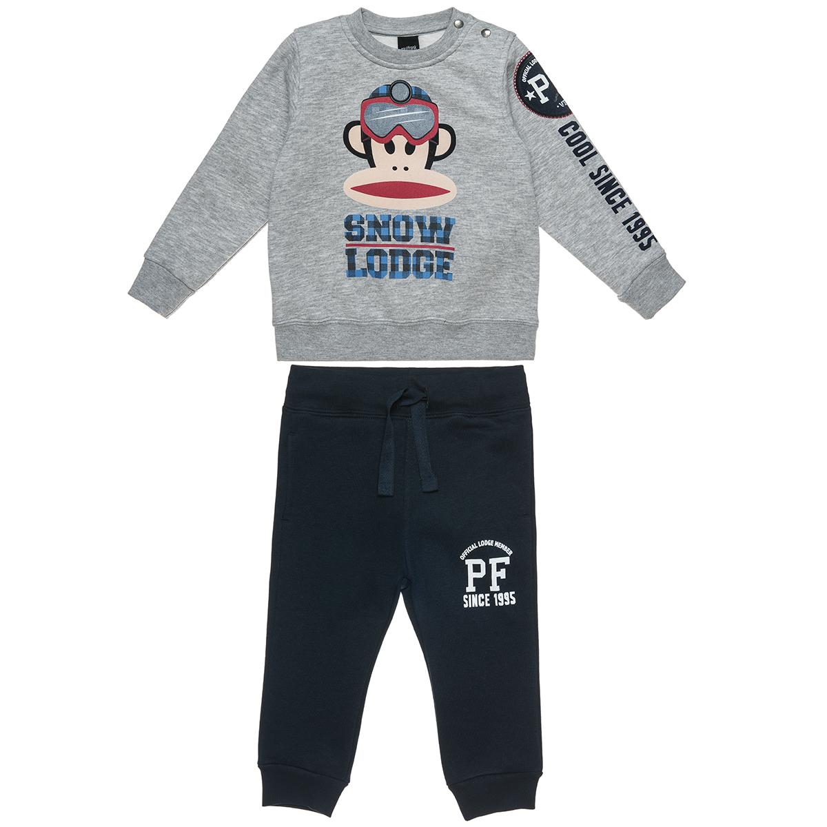 Σετ Φόρμας Paul Frank μπλούζα μελανζέ και παντελόνι με λάστιχο (Αγόρι 12 μηνών-5 ετών) 00330406 - ΓΚΡΙ ΜΕΛΑΝΖΕ - 4003-0208/3/234/172