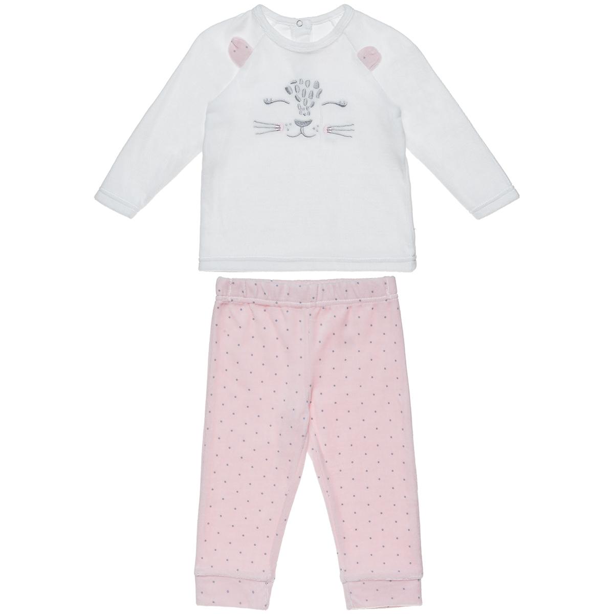 Σετ Tender Comforts μπλούζα με κέντημα και πουά παντελόνι (Κορίτσι 3 μηνών-2 ετών) 00470620 - Εκρού - 4633-0001/3/158/172
