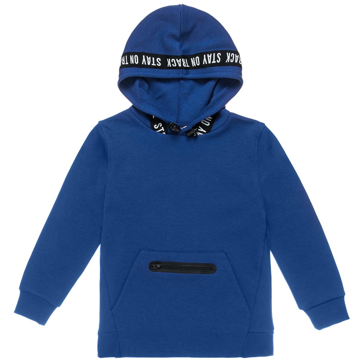 Μπλούζα φουτερ με τσέπες και λεπτομέρεια στην κουκούλα (Αγόρι 6-16 ετών) 00922412 - ΜΠΛΕ ΡΟΥΑ - 4640-0009/3/236/111