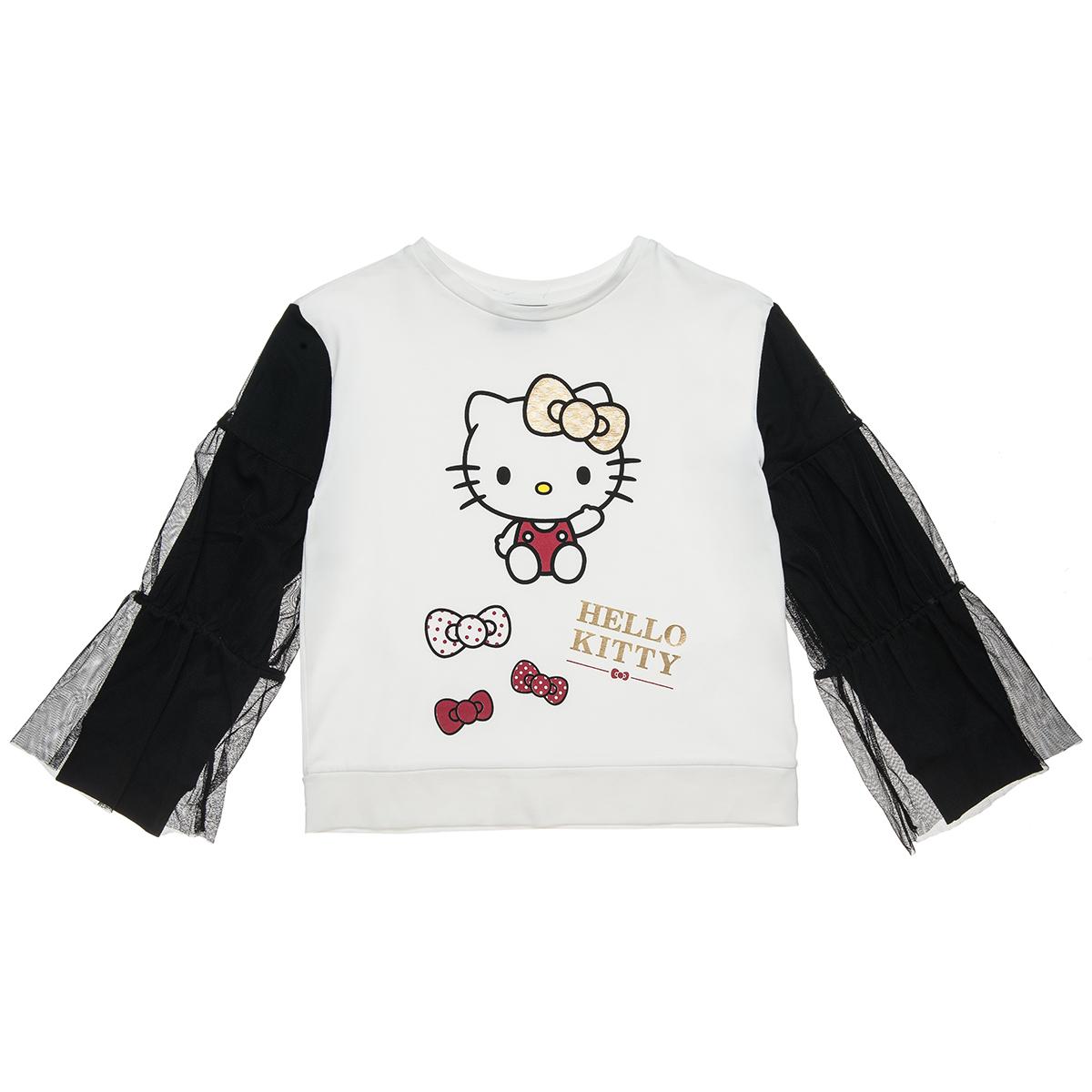 Μπλούζα Hello Kitty με τούλι στα μανίκια (Κορίτσι 6-12 ετών) 00121307 - Εκρού - 5063-0118/3/158/111