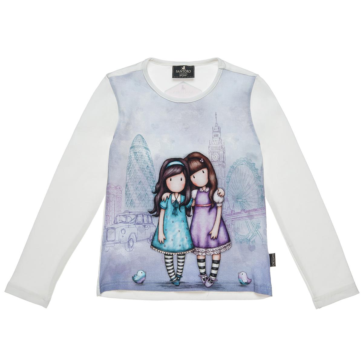 1e51fee413a Μπλούζα Santoro με τύπωμα (Κορίτσι 6-14 ετών) 00121353 - Εκρού - 3788