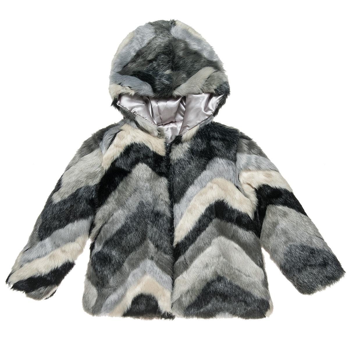Γούνα με κουκούλα και μοτίβο (Κορίτσι 6-16 ετών) 00961429 - MULTICOLOR - 5502-0025/3/196/111