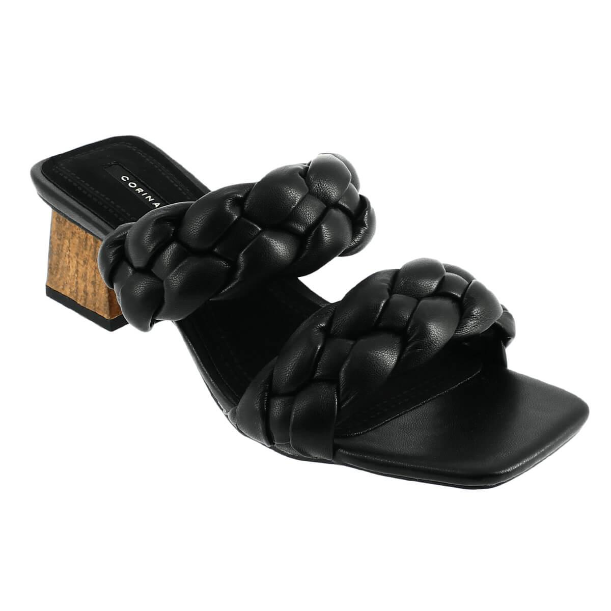 IQSHOES 107.C1251 Μαύρο Mule Γυναικείο - Μαύρο - 107.C1251BLACK-black-35/4/1/67 - IQShoes -