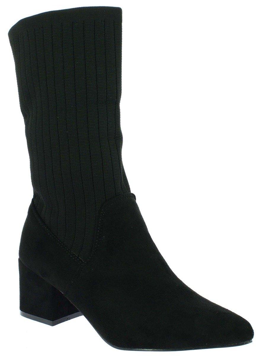IQSHOES Γυναικείο Μποτάκι 104.596-1 Μαύρο - Μαύρο - 104.596-1 BLACK-black-36/4/1/81 - IQShoes -