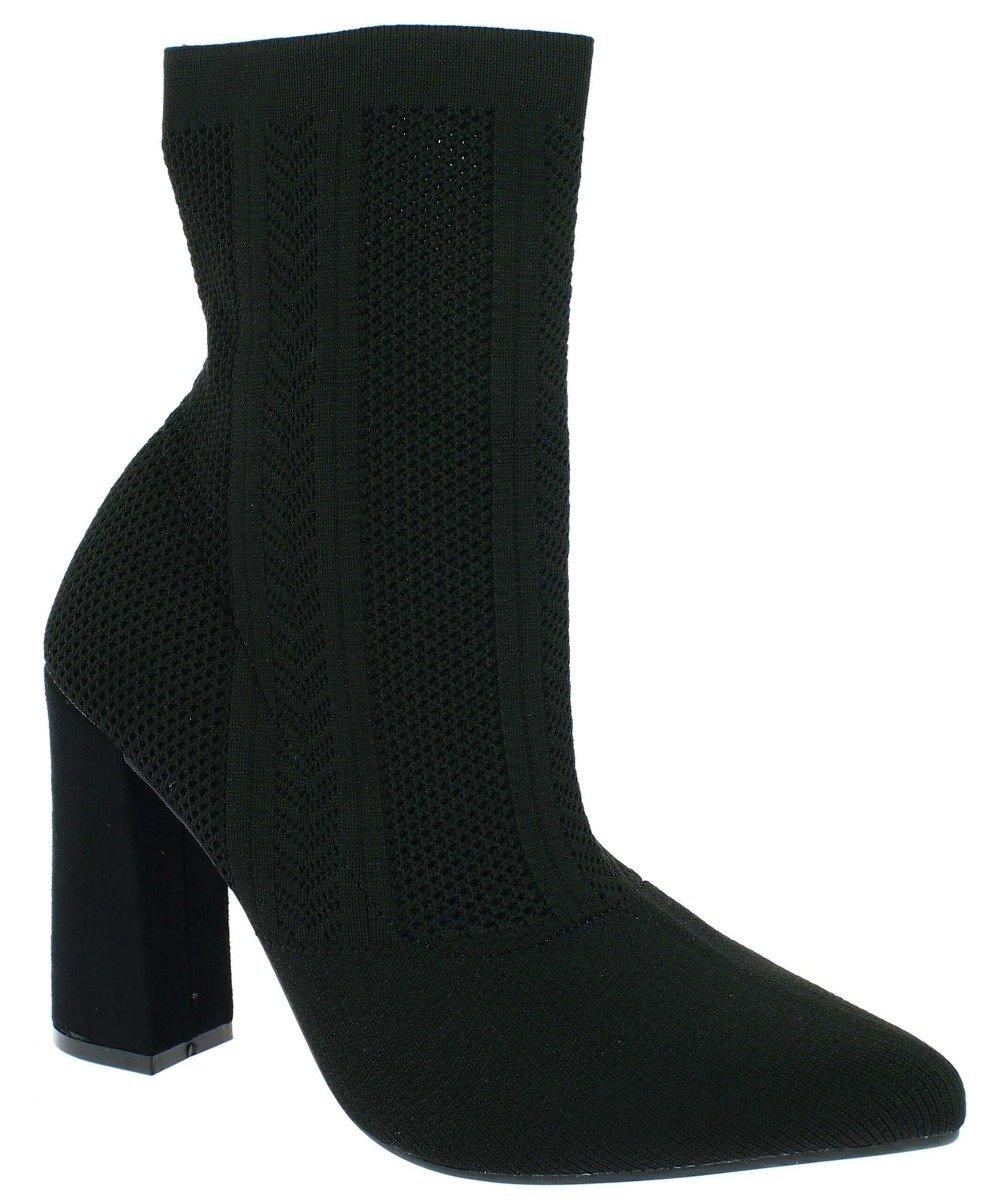 IQSHOES Γυναικείο Μποτάκι 104.983-8 Μαύρο - Μαύρο - 104.983-8 BLACK-black-36/4/1/81 - IQShoes -