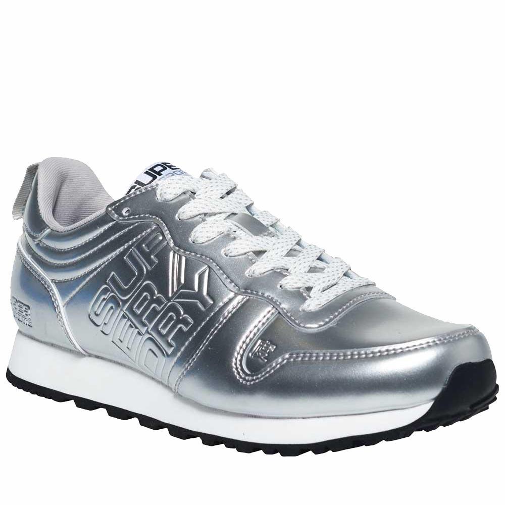 SUPERDRY Streetsport Neon Runner Sneaker 36-41 - Ασημί - SDGS5000LR/22/2/141/81